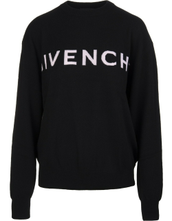 Woman Givenchy 4g Pullover In Black Cashmere