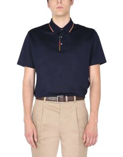 Paul Smith Polo Shirt With Stripes Detail