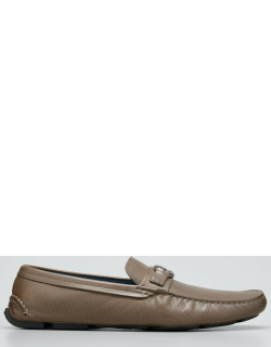 Men's Textured Leather Logo Drivers