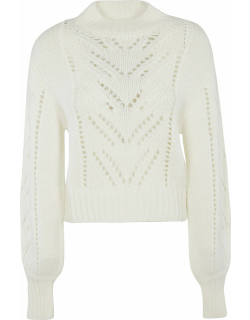 RED Valentino Cropped Perforated Sweater