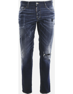 Dsquared2 Slim Stretch Cotton Jeans With Rips