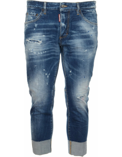 Dsquared2 Turn-up Cuffs Distressed Jeans