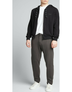 Men's Cotton-Silk Tapered Jogger Trousers