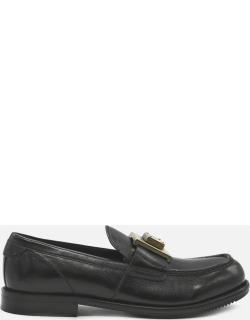 Dolce & Gabbana Leather Loafers With Logo Plaque Detail