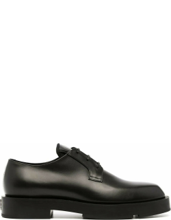Givenchy Man Squared Derby Shoe In Black Box Leather