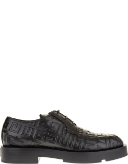 Givenchy Man Squared Derby Shoe In Black 4g Leather