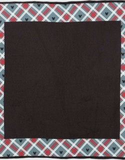 Men's Mickey Mouse Holiday Plaid Pocket Square