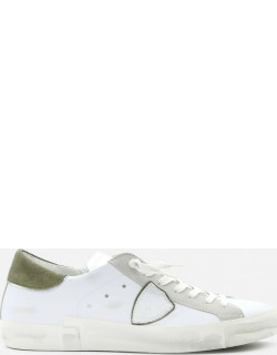 Philippe Model Paris X Sneakers In Leather With Suede Heel Tab