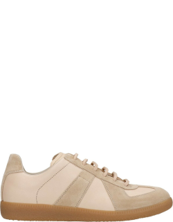 Maison Margiela Replica Sneakers In Powder Suede And Leather