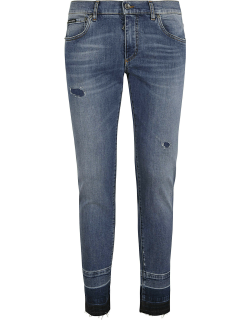 Dolce & Gabbana Distressed Effect Cropped Jeans