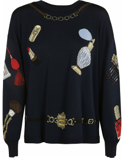 Moschino Knit Embroidered Sweater
