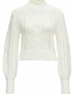 RED Valentino White Openwork Sweater In Mohair Blend