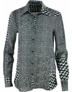 Ermanno Scervino Long-sleeved Silk Shirt With Patterned Motif
