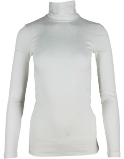 Brunello Cucinelli Long-sleeved Mock Neck T-shirt With A Row Of Monili On The Back Of The Neck