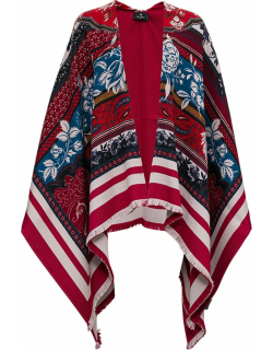 Etro Wool Blend Cape With Jacquard Print