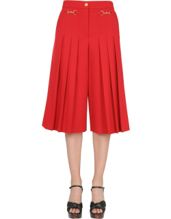 Boutique Moschino Wide Trousers With Logo Clamp
