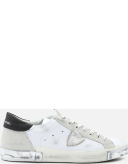 Philippe Model Parisx Sneakers In Leather With Contrasting Heel Tab