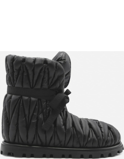 Miu Miu Quilted Nylon Ankle Boots