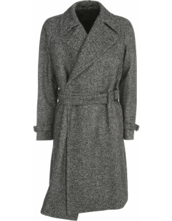 Tagliatore Wool Crossed Double Breasted Coat