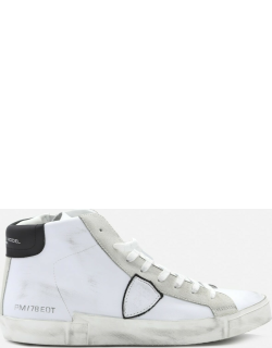 Philippe Model Paris X Sneakers In Leather With Suede Inserts