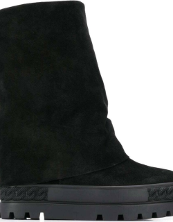 Casadei Black Suede Leather Boots