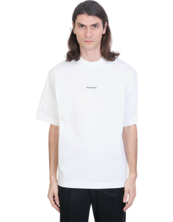 Acne Studios Extor Stamp T-shirt In White Cotton