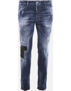 Dsquared2 Distressed-effect Stretch Cotton Skinny Jeans