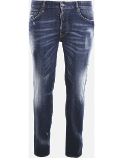 Dsquared2 Slim-fit Jeans In Stretch Cotton With A Faded Effect