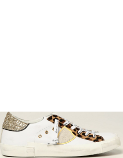 Philippe Model Sneakers Philippe Model Sneakers In Leather And Animalier Pony