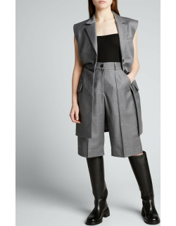 Wool Cropped Trousers
