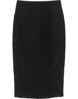 N.21 Midi Pencil Skirt With Lace