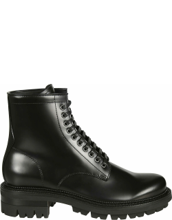 Dsquared2 Kombat Flat Lace-up Ankle Boots