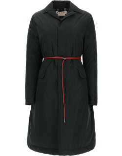 Marni Down Jacket With Removable Leather Belt