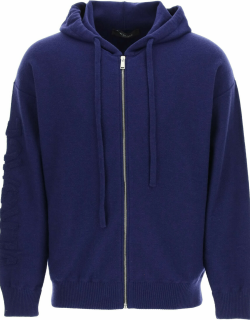 Versace Hooded Sweater With Textured-effect Medusa