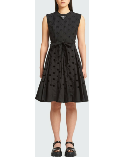 Cutout Belted Fit-&-Flare Midi Dress