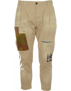 Dsquared2 Multi-patch Cropped Trousers