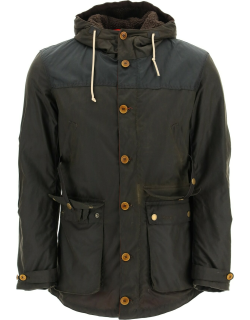 Barbour Game Parka In Waxed Cotton