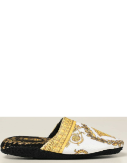 Versace Home Flat Shoes Versace Home Slipper In Cotton With Baroque Print