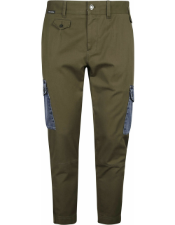 Dolce & Gabbana Patched Pocket Cropped Cargo Pants