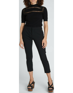 Stretch-Wool Cropped Trousers