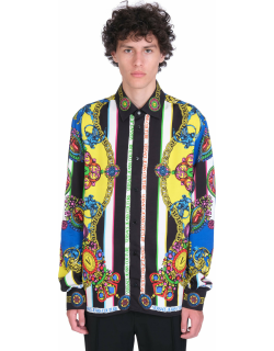 Versace Jeans Couture Shirt In Multicolor Viscose