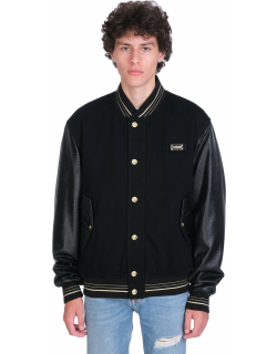 Versace Jeans Couture Bomber In Black Leather