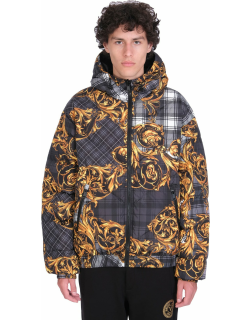 Versace Jeans Couture Puffer In Black Polyester