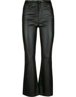 Federica Tosi Shiny Leather Flared 5 Pockets Trousers
