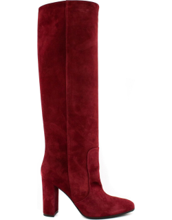 Via Roma 15 Red Suede High Boot