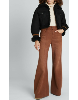 Suede Shearling Cropped Jacket