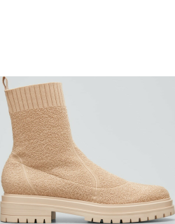 Chester Knit Sock Lug-Sole Booties