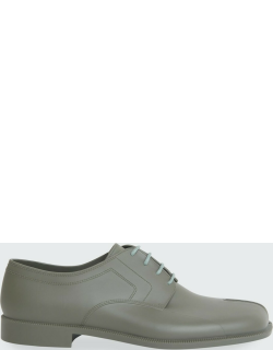 Rubber Tabi Lace-Up Shoes