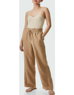 Henry Cropped Paperbag Pants with Tie-Waist