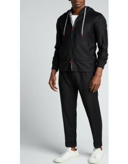 Men's Pleated Tapered Wool Trousers